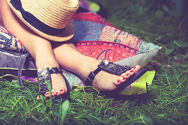 여름 패션 샌들 - 샌들 뉴스 사진 이미지