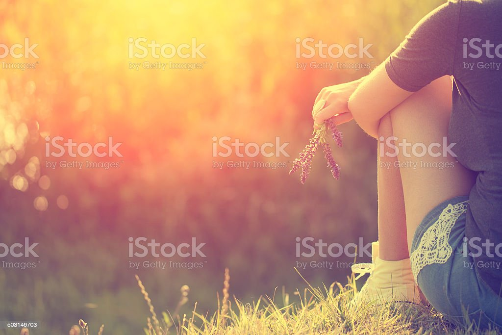 Summer feelings stock photo