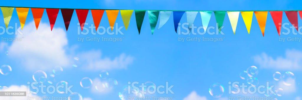 summer festival background panorama stock photo