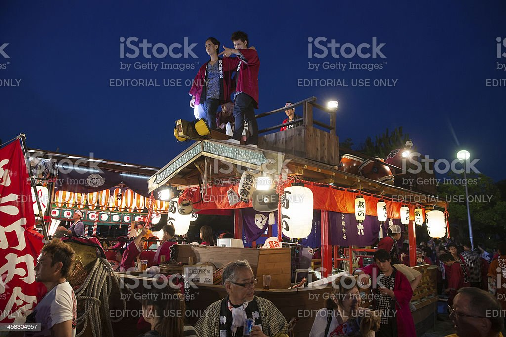 Summer Festival in Japan stock photo