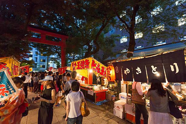 summer festival in tokyo, japan - 伝統的な祭り ストックフォトと画像