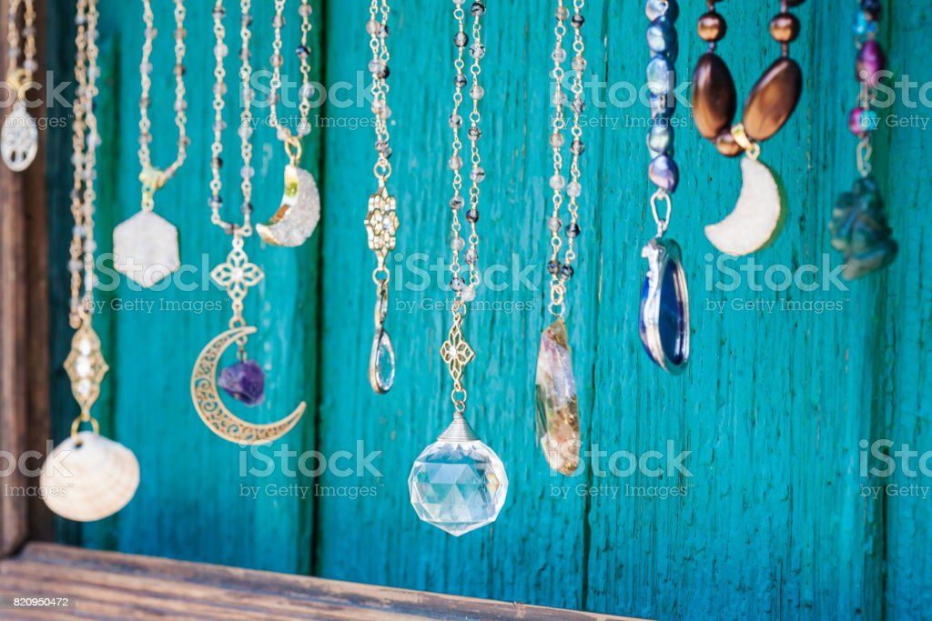 summer festival jewelry stock photo