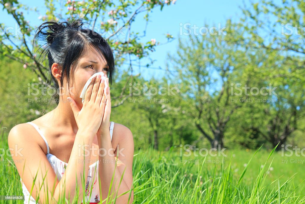 Summer Field - Blow Nose royalty-free stock photo