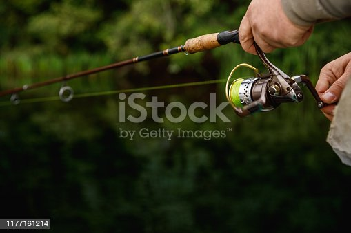914030378istockphoto Summer fishing on the river in the early morning. Fishing background. 1177161214