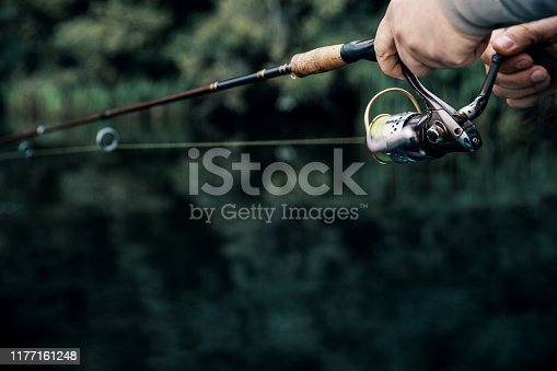 914030378istockphoto Summer fishing on the river in the early morning. Fishing background. 1177161248