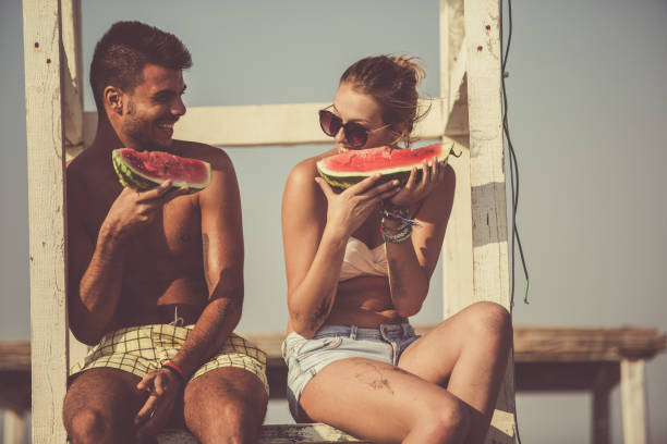 Summer flirt stock photo
