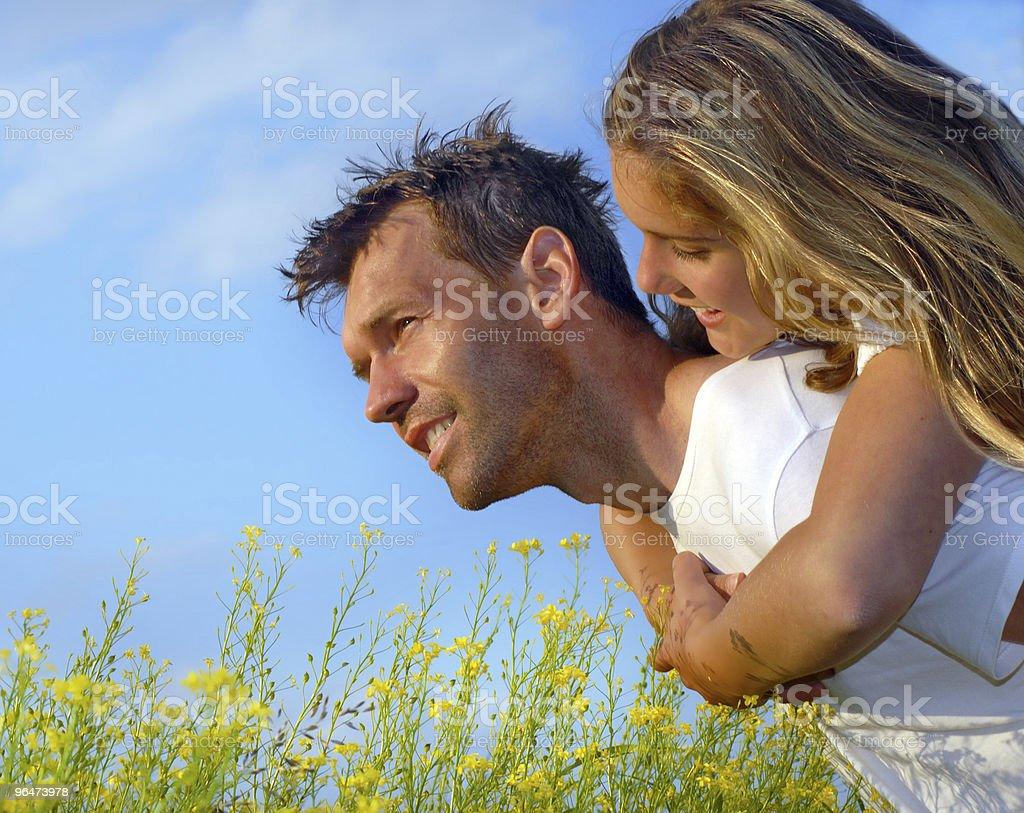 Summer flirt royalty-free stock photo