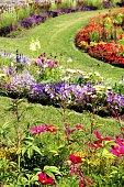 Large summer flower garden
