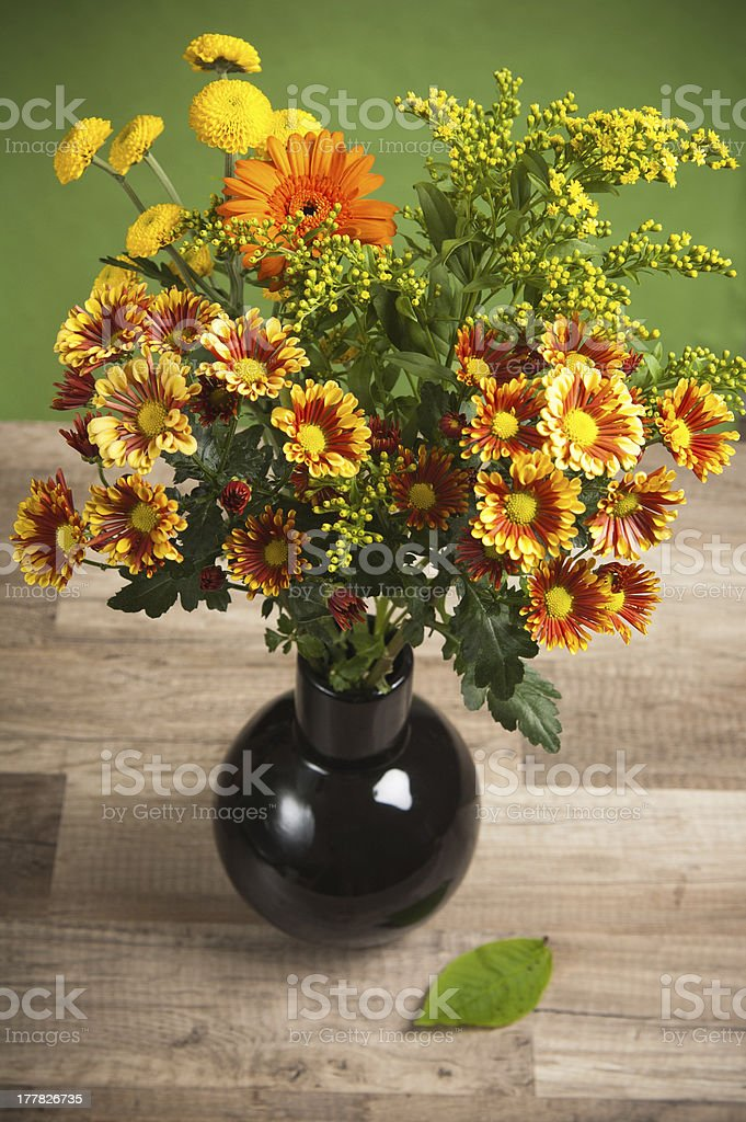 summer flowers bouquet in a vase, close-up royalty-free stock photo