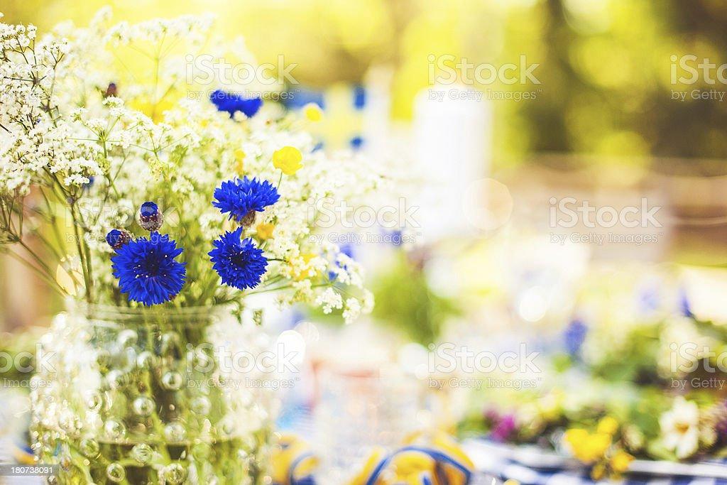 Summer flowers stok fotoğrafı