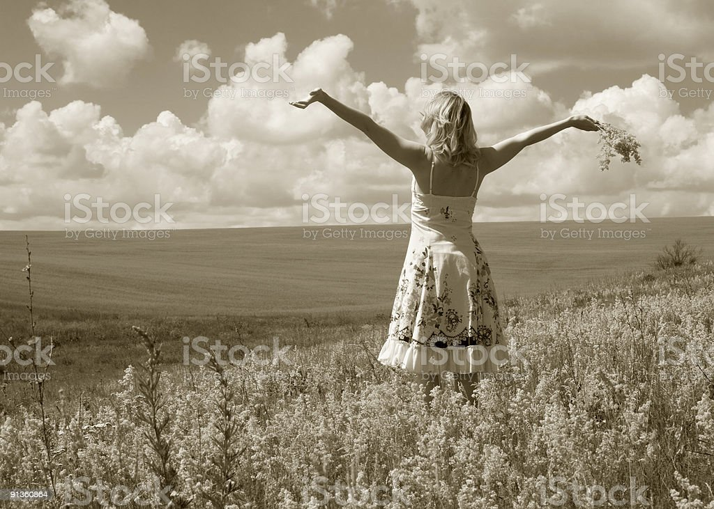 Summer. Freedom. royalty-free stock photo