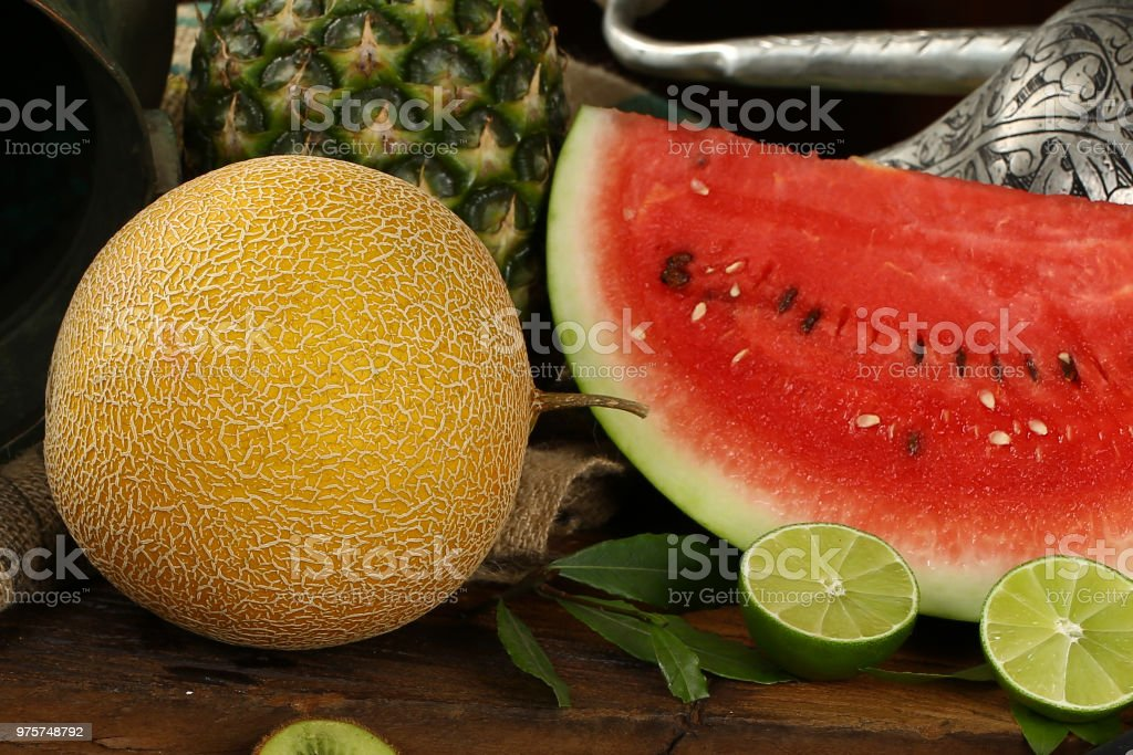 Sommer Obst Hintergrund Stillleben - Lizenzfrei Abnehmen Stock-Foto