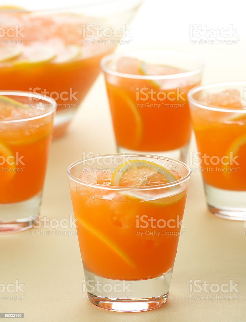 Summer fruit cocktails royalty-free stock photo