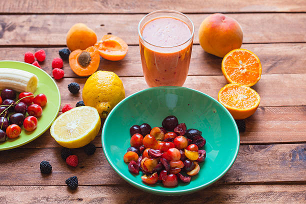 Summer Fruits Smoothie Summer Fruits Smoothie centrifuge stock pictures, royalty-free photos & images