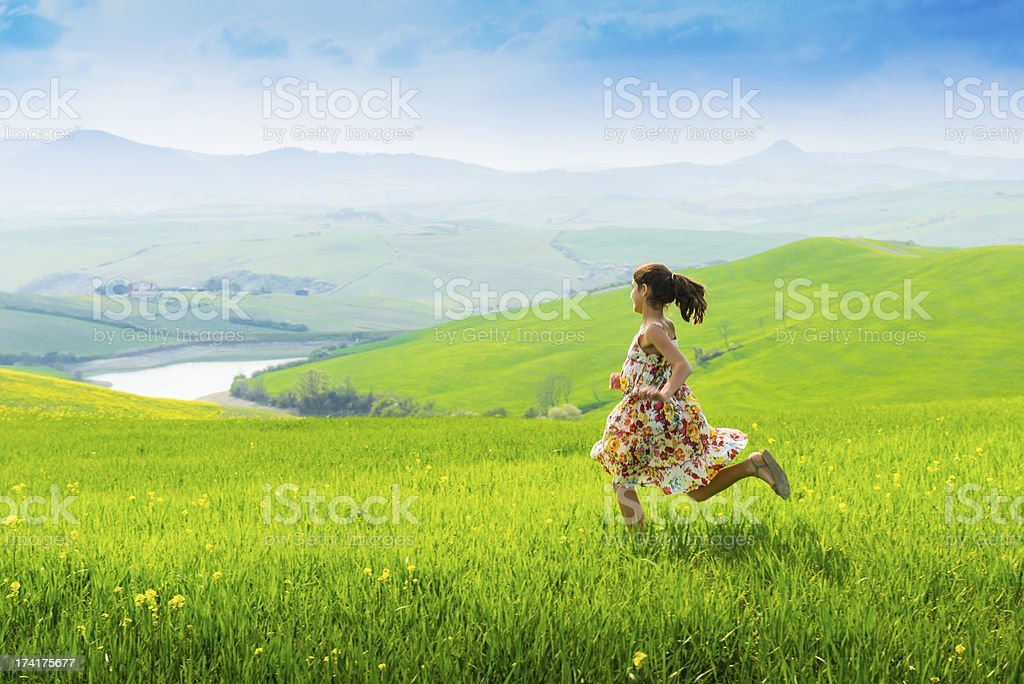 Summer fun in Tuscany stock photo