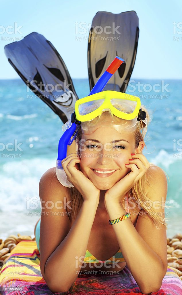 Summer fun on the beach royalty-free stock photo