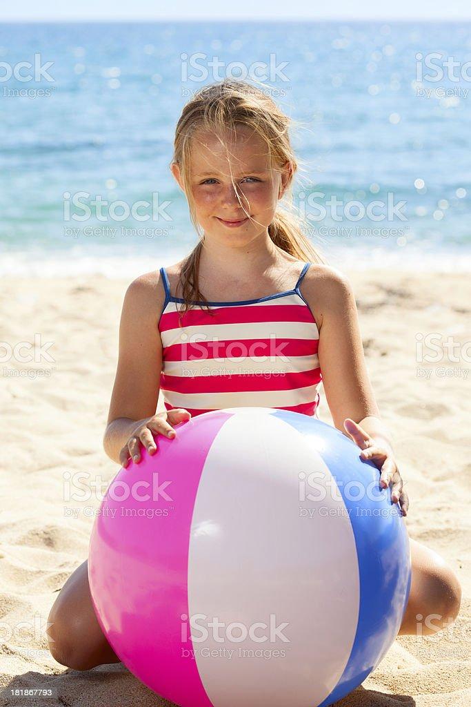 Summer fun on the beach royalty-free stock photo