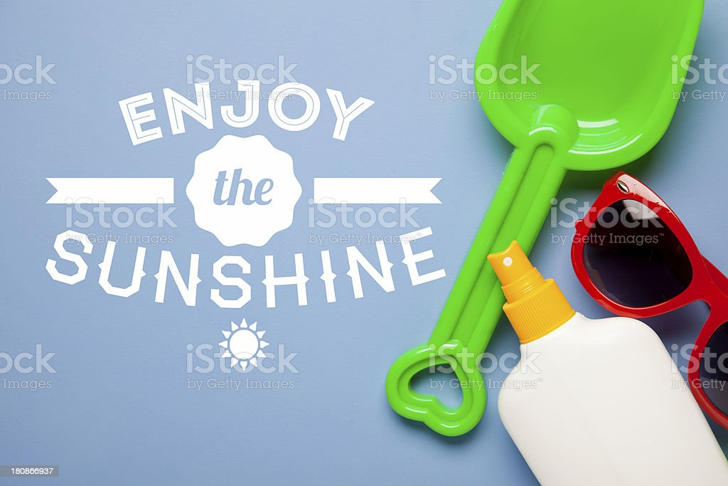 Summer fun ready for the beach royalty-free stock photo