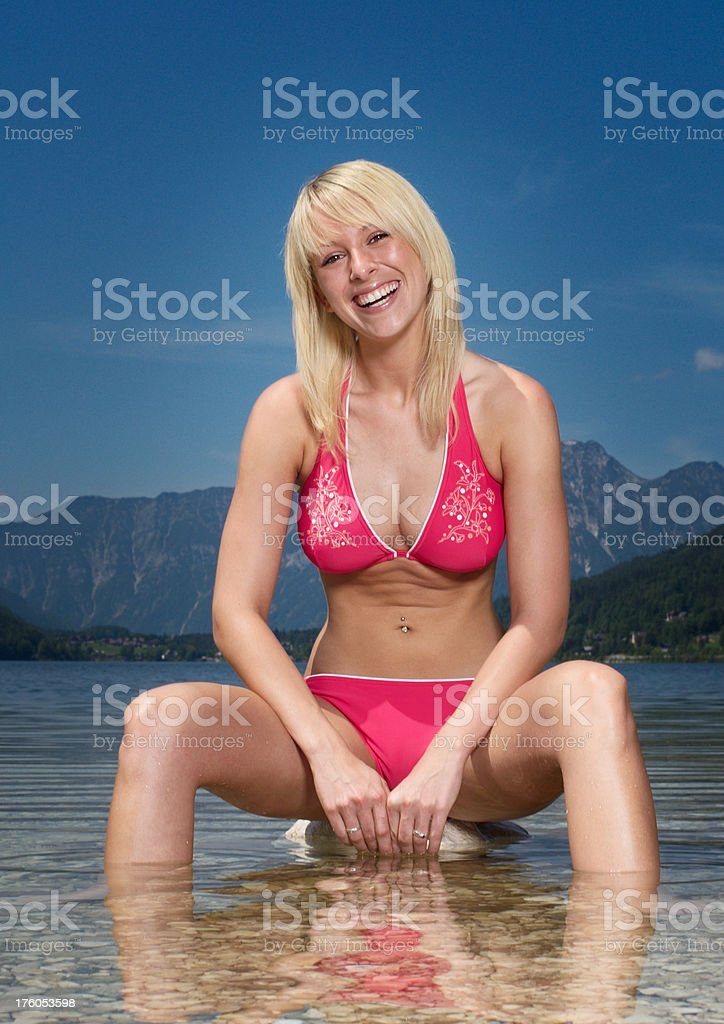 Summer Fun - Refreshing in the Lake royalty-free stock photo