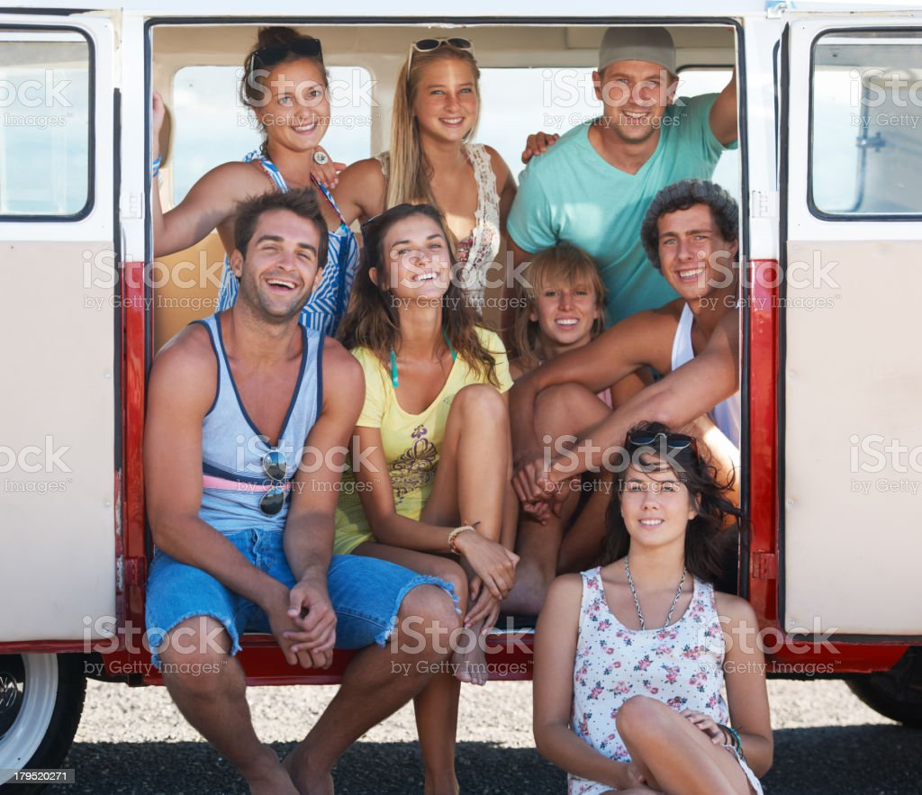 Summer fun with our cool crew royalty-free stock photo