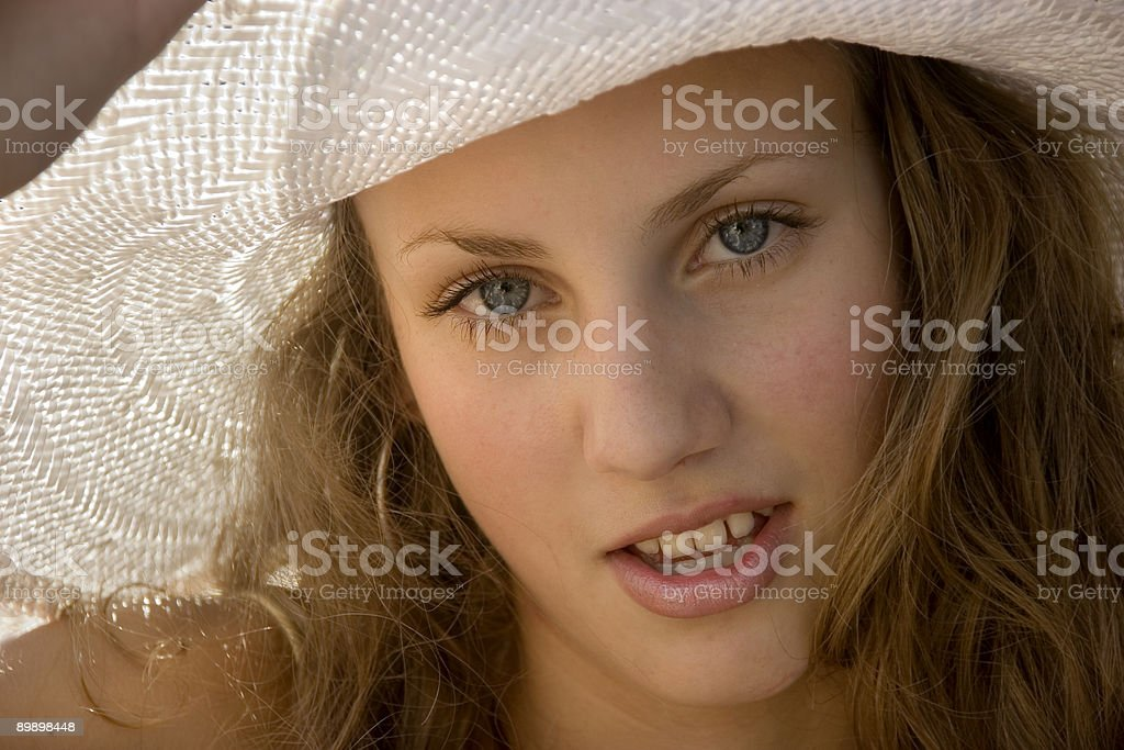 Summer girl royalty free stockfoto