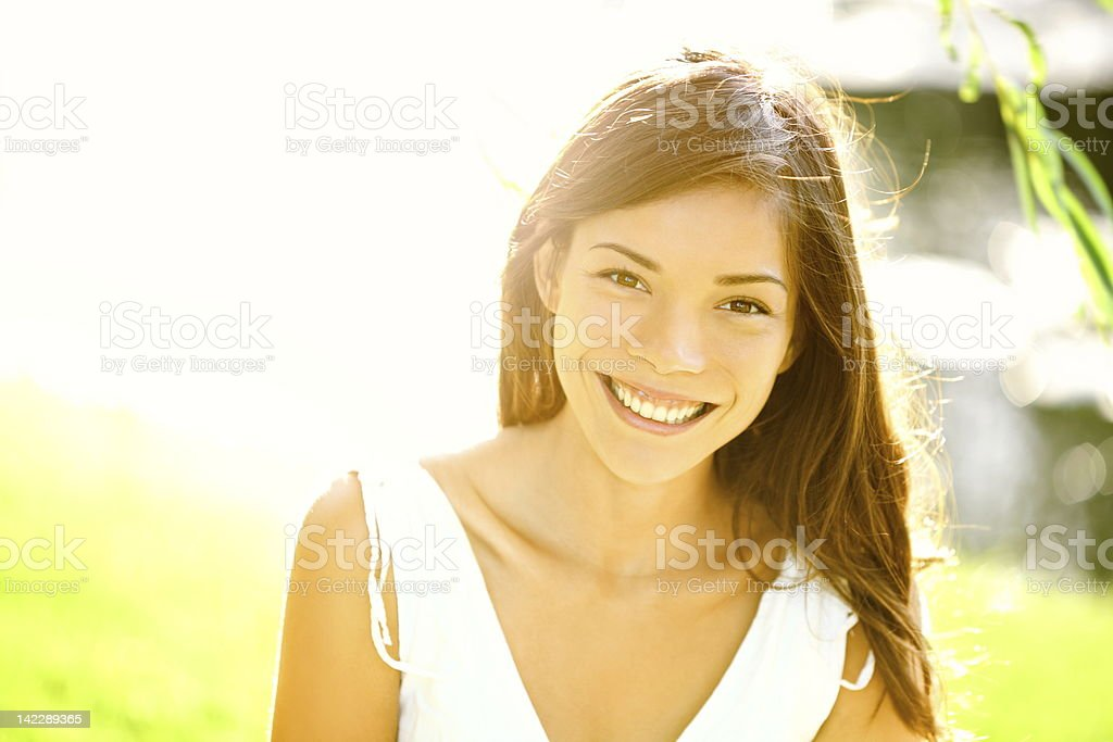 Summer girl portrait stock photo
