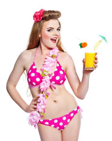 Summer Girl Studio Portrait Stock Photo - Download Image Now
