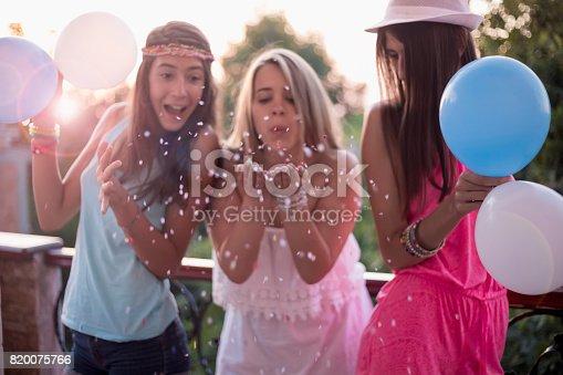 699427744 istock photo Summer girls party on balcony 820075766