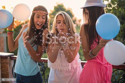699427744 istock photo Summer girls party on balcony 821207520