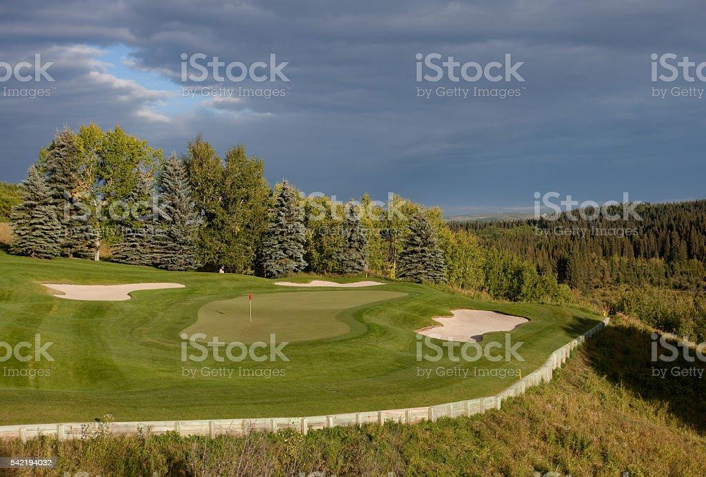 Summer Golf Scenic stock photo