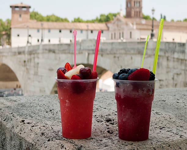 Summer Granita refreshment Rome stock photo