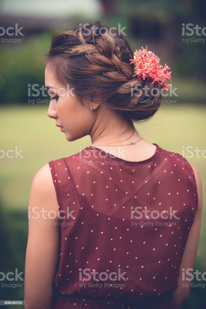 Summer hairstyle stock photo
