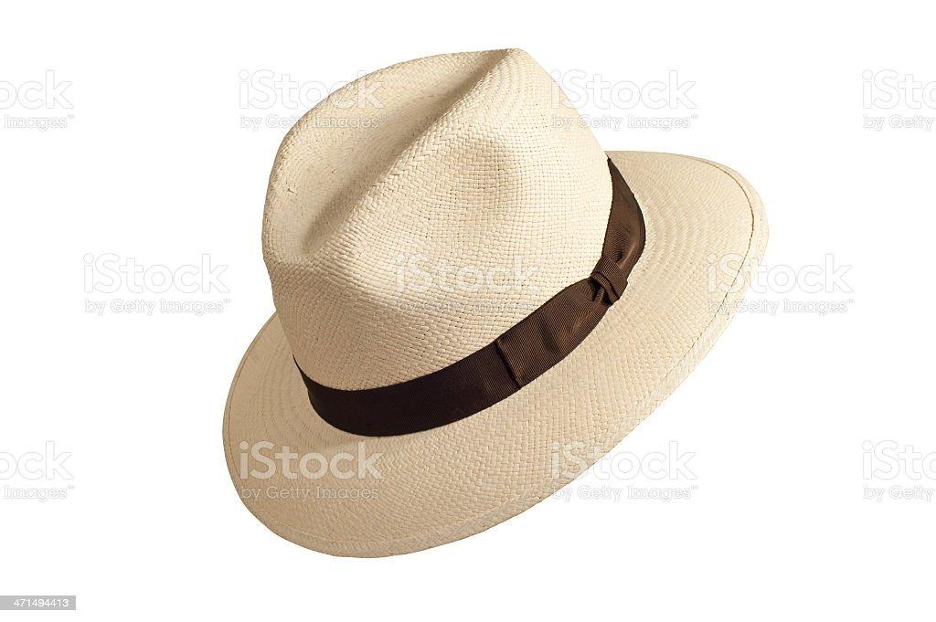 Summer hat panama style royalty-free stock photo