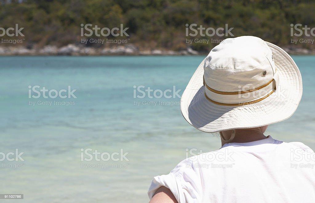 Summer hat stock photo