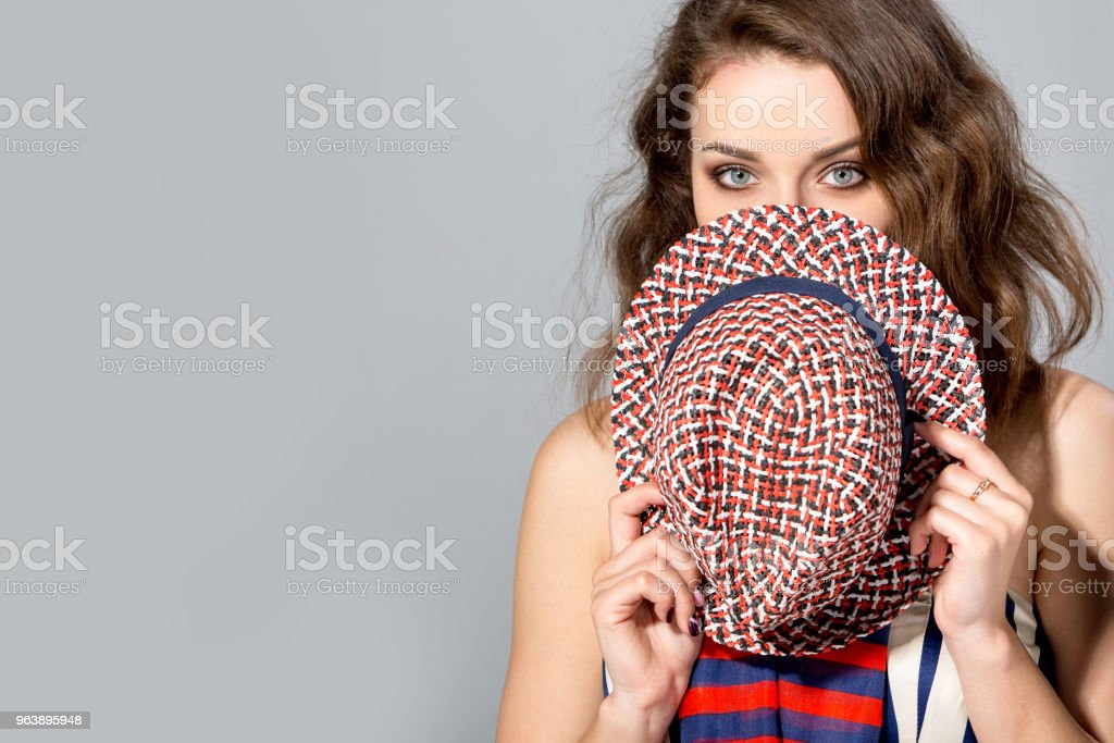 Summer hat woman - Royalty-free Adult Stock Photo