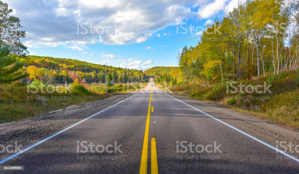Summer highway open road to anywhere. stock photo