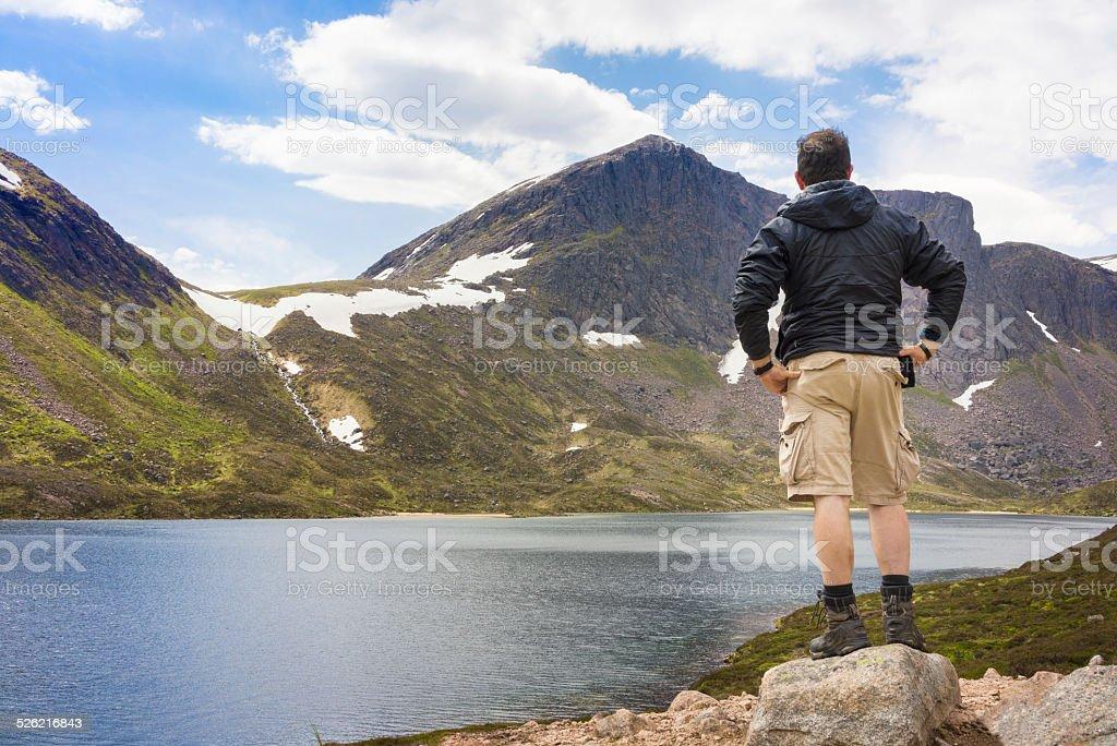 Summer hiking in Scotland stock photo