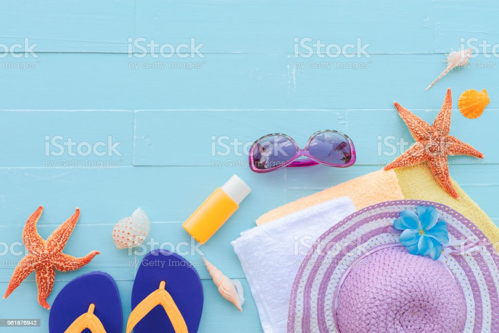 summer holiday and vacation concept. stock photo