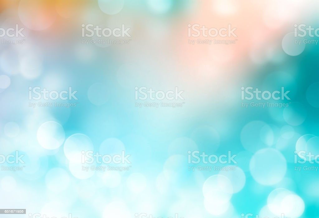 Summer holiday blue blurred background. stock photo