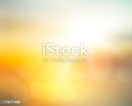 Abstract blurred yellow and orange sea sunrise background