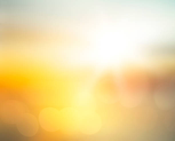 Summer holiday concept Abstract blurred yellow and orange sea sunrise background twilight stock pictures, royalty-free photos & images