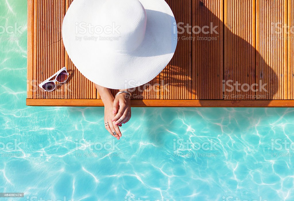 Summer holiday fashion concept stock photo