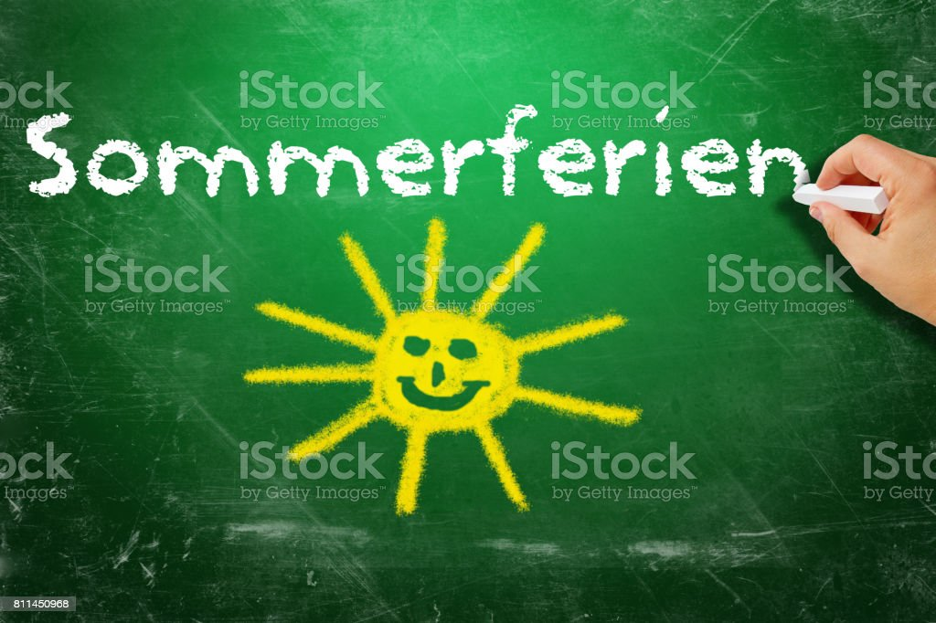 Summer holiday - German text stock photo