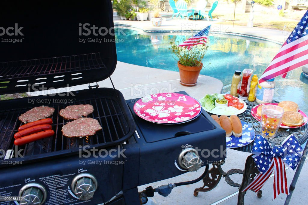 Summer Holiday Grilling stock photo