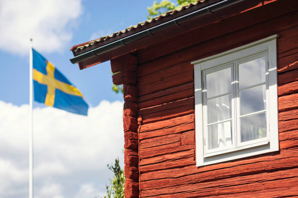 Summer holiday in Sweden stock photo