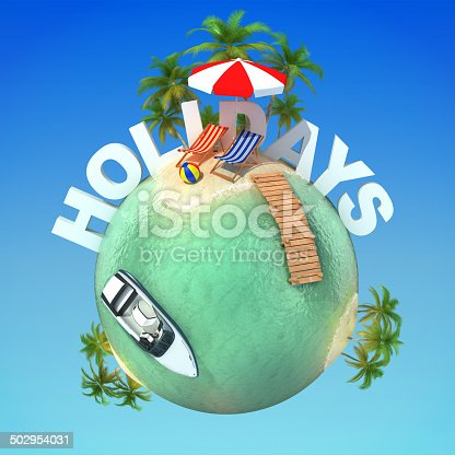 500536143istockphoto summer holidays 3d planet 502954031