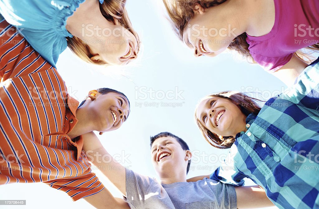 Summer holidays and friends royalty-free stock photo