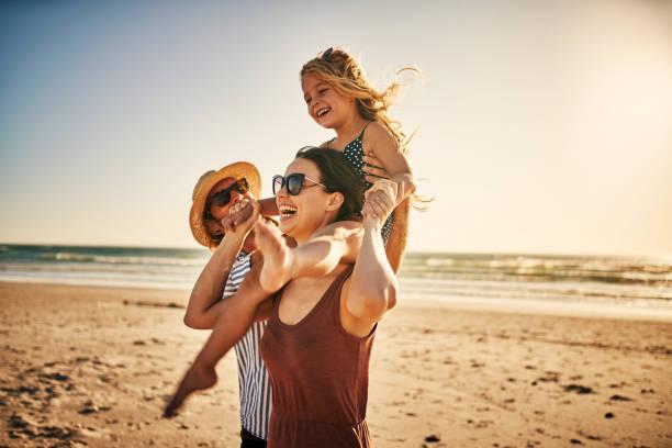 Summer holidays are happy days stock photo