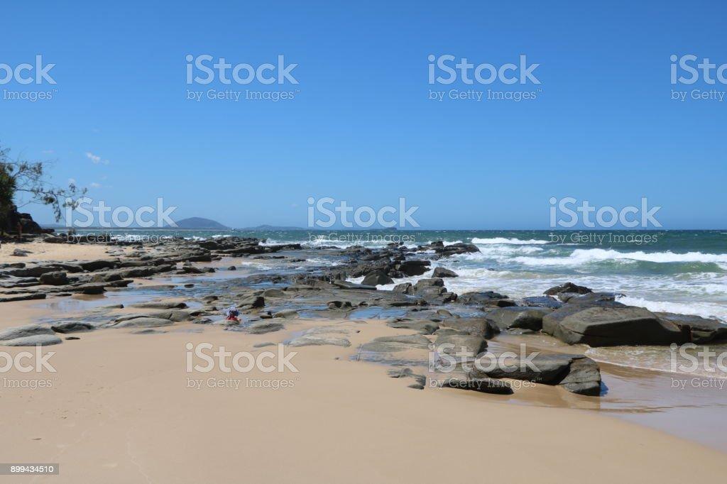 Summer holidays at Sunshine Coast in Queensland, Australia stock photo