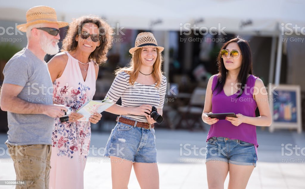 Summer, Holidays, Vacation And Happiness Concept stock photo